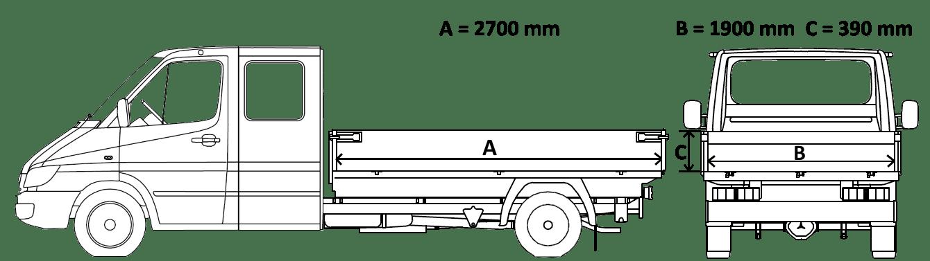 Mercedes Sprinter rozmery